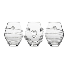 Juliska Assorted Mini Clear Vases S/3