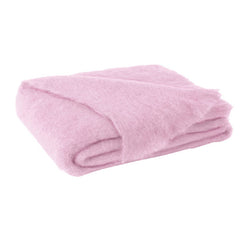 Lands Downunder Brushed Mohair Throw - Cotton Candy
