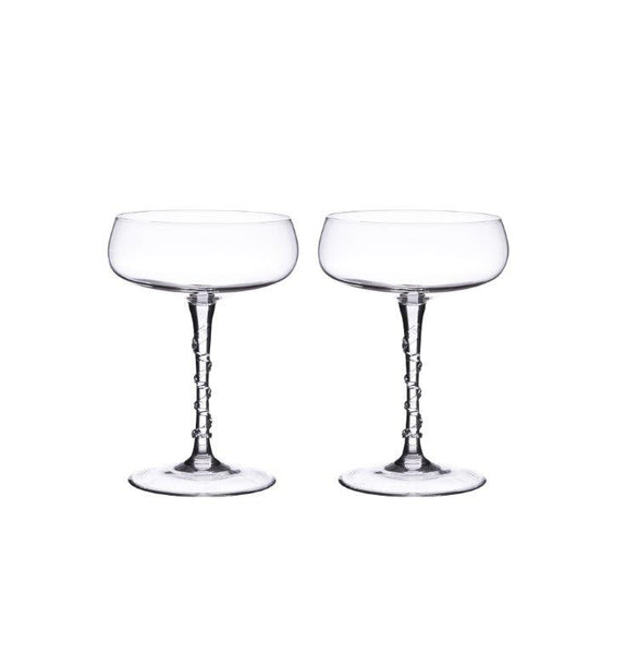 Juliska Amalia Champagne Coupe Glass Set of 2
