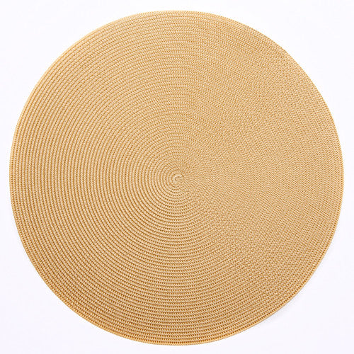 "Deborah Rhodes Cream/Toast Round 15"" Placemat (Set of 6)"