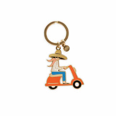 Rifle Paper Scooter Key Chain