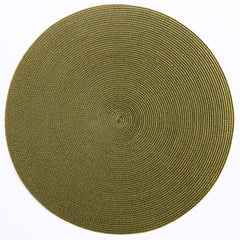 Deborah Rhodes Espresso/Avocado Placemat - All Shapes (Set of 6)