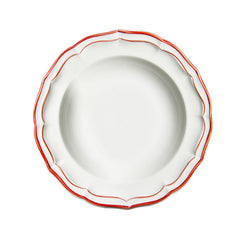 Gien Filet Rouge Rimmed Soup Plate