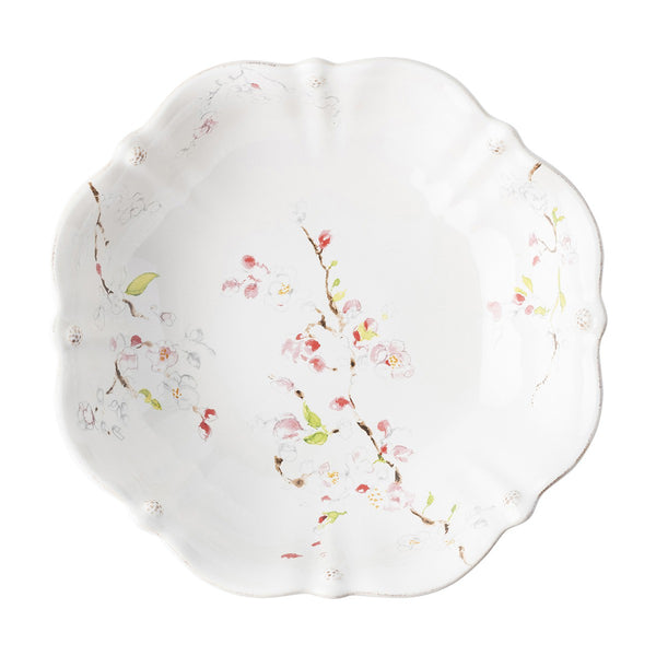 Juliska Berry & Thread Floral Sketch Cherry Blossom Serving Bowl
