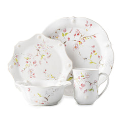 Juliska Berry & Thread Floral Sketch Cherry Blossom 4-piece Placesetting