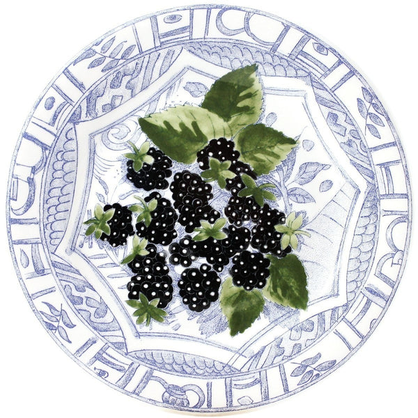 Gien Oiseau Fruit Blackberry Dessert Plate
