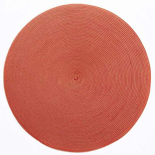 "Deborah Rhodes Gold/Holiday Red Round 15"" Placemat (Set of 6)"