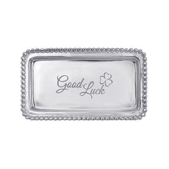 "Mariposa ""Good Luck"" Beaded Sentiment Tray"