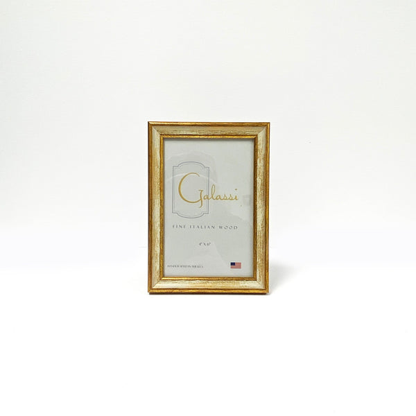 Italian Woods Traditional Cream/Gold 4x6 Frame - Made in USA