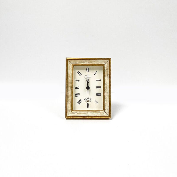Italian Woods Traditional Ivory/Gold Small Clock - Made in USA
