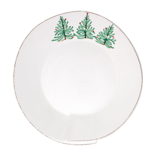 Vietri Lastra Holiday Large Shallow Serving Bowl