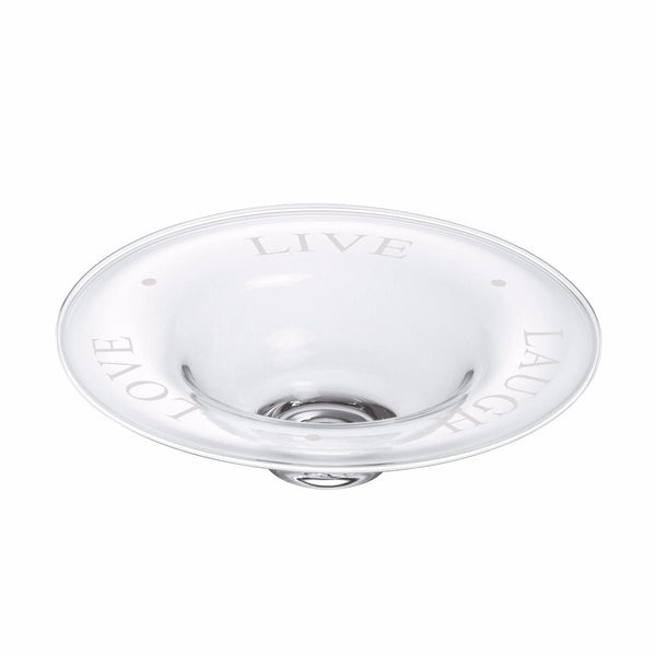 "Simon Pearce Engraved ""Live Laugh Love"" Bowl"