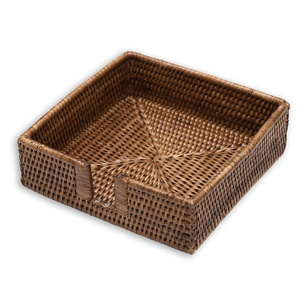Caspari Rattan Luncheon Napkin in Dark Natural