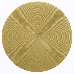 "Deborah Rhodes Mustard/Grass Round 15"" Placemat (Set of 6)"