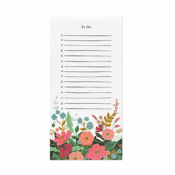 Rifle Paper Floral Vines Markey Pad