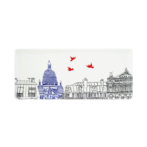 Gien Ca C'est Paris Oblong Serving Tray