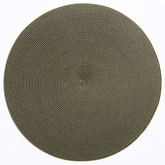 "Deborah Rhodes Olive Round 15"" Placemat (Set of 6)"