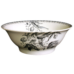 Gien Tulipes Noires Open Vegetable Bowl