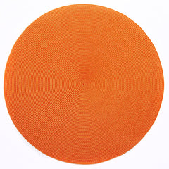 "Deborah Rhodes Orange Round 15"" Placemat (Set of 6)"