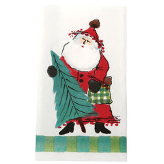 Vietri Old St. Nick Green Guest Towel