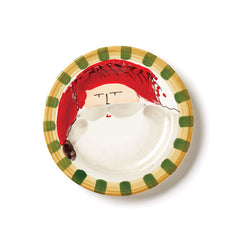 Vietri Old St. Nick Red Hat Round Salad Plate