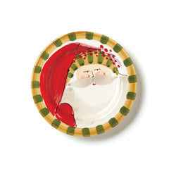 Vietri Old St. Nick Striped Hat Round Salad Plate
