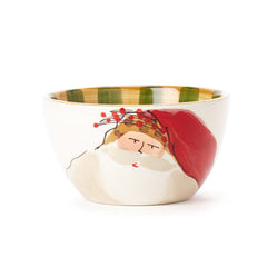 Vietri Old St. Nick Striped Hat Cereal Bowl