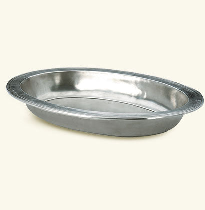 Match Pewter Large Oval Serving Bowl