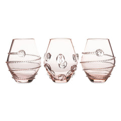 Juliska Assorted Mini Pink Vases Set/3