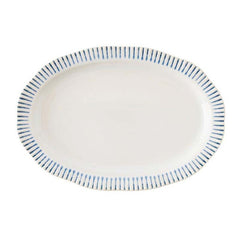 Juliska Wanderlust Sitio Stripe Indigo Serving Platter