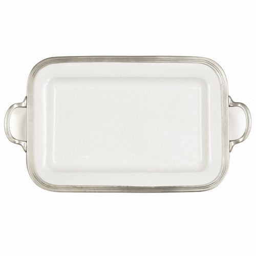 Arte Italica Tuscan Rectangular Tray with Handles