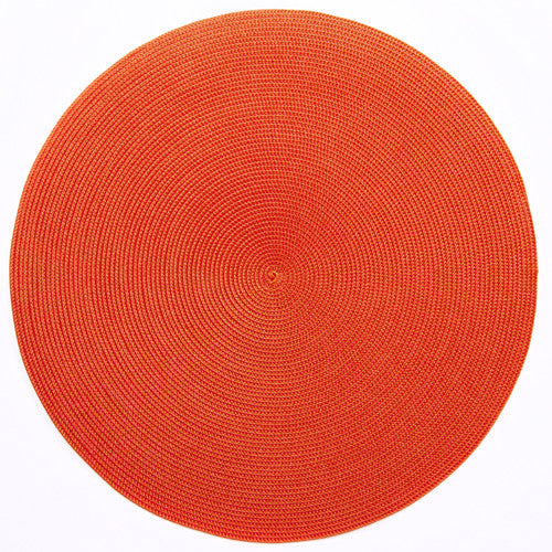 "Deborah Rhodes Red/Orange Round 15"" Placemat (Set of 6)"