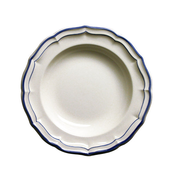 Gien Filet Indigo Soup Plate