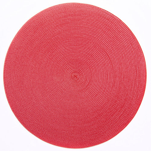 "Deborah Rhodes Rose/Red Round 15"" Placemat (Set of 6)"