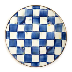 MacKenzie Childs Royal Check Dinner Plate