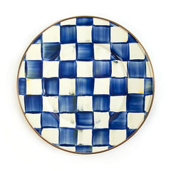 MacKenzie Childs Royal Check Salad/ Dessert Plate