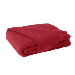 Lands Downunder Brushed Mohair Throw - Scarlet