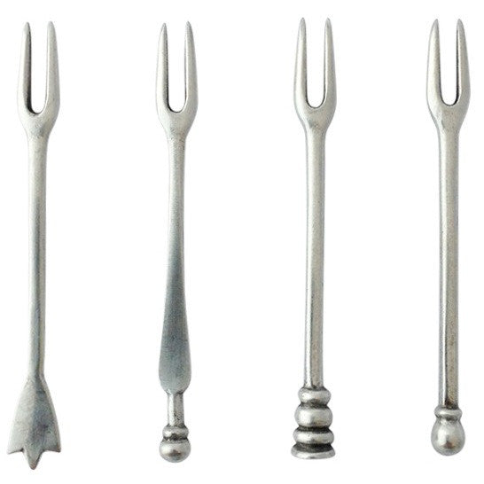 Assorted Olive Forks, Set/4