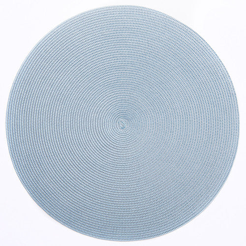 Deborah Rhodes Silver/Aqua Placemat - All Shapes (Set of 6)