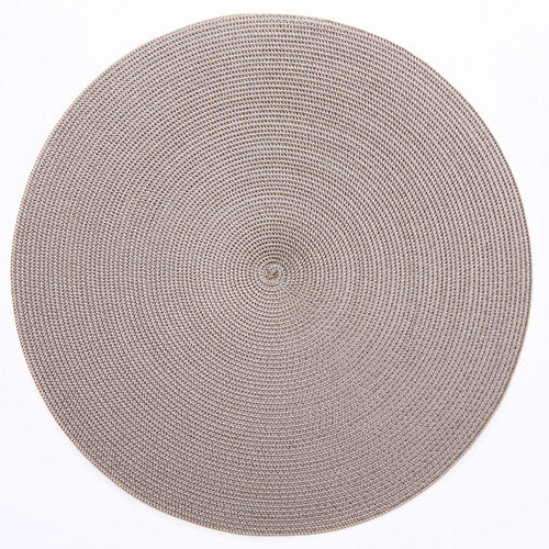 "Deborah Rhodes Silver/Dust Round 15"" Placemat (Set of 6)"