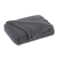 Lands Downunder Brushed Mohair Throw - Slate