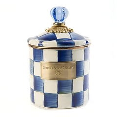 MacKenzie Childs Royal Check Small Canister