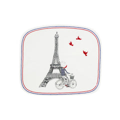 Gien Ca C'est Paris Small Square Plate