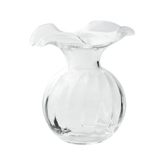 Vietri Hibiscus Glass Clear Small Vase