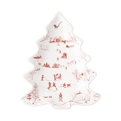 Juliska Country Estate Winter Frolic Ruby Small Tree Platter