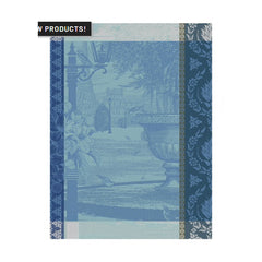 Le Jacquard Francais Jardin Parisien Blue Kitchen/ Hand Towels