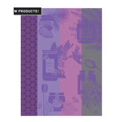 Le Jacquard Francais Miel En Pot Purple Kitchen/ Hand Towel