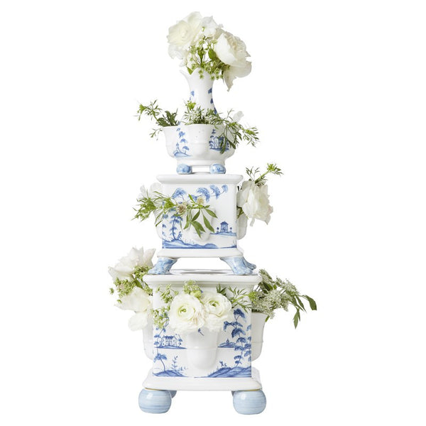 Juliska Country Estate Delft Blue Tulipiere Tower S/3