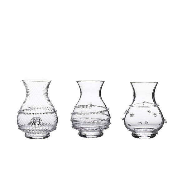 Juliska Mini Vase Trio Clear