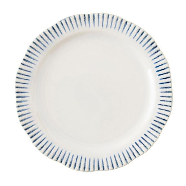 Juliska Wanderlust Sitio Stripe Indigo Dinner Plate
